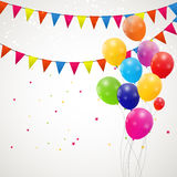 Color glossy balloons background vector Stock Photo