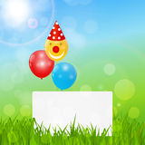 Color Glossy Balloons Birthday Card  Background Vector Illustrat Stock Photos