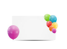 Color glossy balloons card background vector. Illustration. This is file of EPS10 format Royalty Free Stock Photos