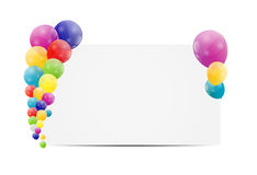 Color glossy balloons card background vector. Illustration. This is file of EPS10 format Stock Photo