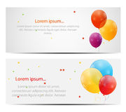 Color Glossy Balloons Card Background Vector. Illustration. This is file of EPS10 format Stock Image