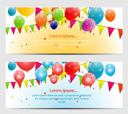 Color Glossy Balloons Card Background Vector. Illustration. This is file of EPS10 format Royalty Free Stock Photography
