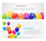 Color Glossy Balloons Card Background Vector Royalty Free Stock Images