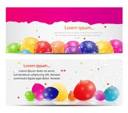 Color Glossy Balloons Card Background Vector Royalty Free Stock Photography