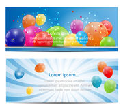 Color Glossy Balloons Card Background Vector. Illustration. This is file of EPS10 format Royalty Free Stock Images