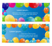 Color glossy balloons card background vector. Illustration. This is file of EPS10 format Royalty Free Stock Image