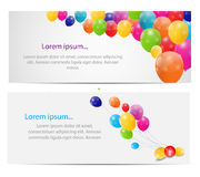Color glossy balloons card background vector. Illustration. This is file of EPS10 format Stock Images