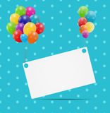 Color glossy balloons card background vector. Illustration. This is file of EPS10 format Royalty Free Stock Photo