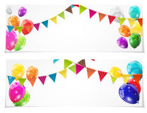 Color Glossy Balloons Card Set Background Vector Illustration. Eps10 Stock Images
