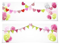 Color Glossy Balloons Card Set Background Vector Illustration. Eps10 Stock Photo