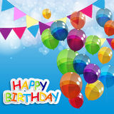 Color Glossy Balloons Happy Birthday Background Royalty Free Stock Images