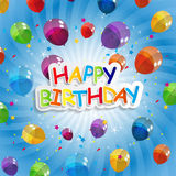 Color Glossy Balloons Happy Birthday Background Stock Photography