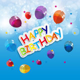 Color Glossy Balloons Happy Birthday Background Royalty Free Stock Photos
