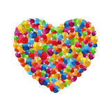 Color Glossy Balloons Heart Background Vector Stock Photography