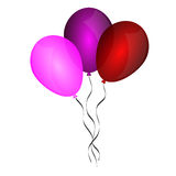 Color glossy balloons Royalty Free Stock Images