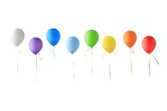 Color glossy balloons Stock Images