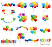 Color Glossy Balloons Mega Set Vector Illustration Royalty Free Stock Images