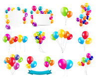 Color Glossy Balloons  Mega Set Vector Stock Images