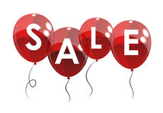 Color Glossy Balloons Sale Concept of Discount Royalty Free Stock Images