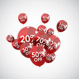 Color Glossy Balloons Sale Concept of Discount Stock Photography