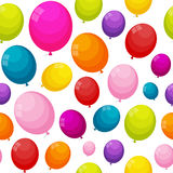 Color Glossy Balloons Seamles Pattern Background Vector Illustra Stock Images