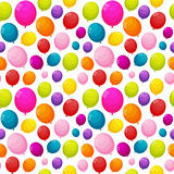Color Glossy Balloons Seamles Pattern Background Vector Illustra Stock Photography