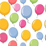 Color Glossy Balloons Seamles Pattern Background Vector Illustra Royalty Free Stock Photography