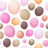 Color Glossy Balloons Seamles Pattern Background Vector Illustra Royalty Free Stock Image