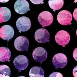 Color Glossy Balloons Seamles Pattern Background Vector Illustration. EPS10 Royalty Free Stock Photo