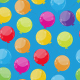 Color Glossy Balloons Seamles Pattern Background Stock Photos
