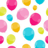 Color Glossy Balloons Seamles Pattern Background Royalty Free Stock Image