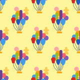 Color glossy balloons seamless pattern entertainment holiday festival vector illustration. Color glossy balloons seamless pattern vector illustration. Round Royalty Free Stock Image