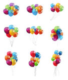 Color Glossy Balloons Set Background Vector. Illustration EPS10 Stock Photos