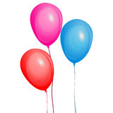 Color glossy balloons set. Graphic illustration multicolored balloon. Isolated on white Royalty Free Stock Image