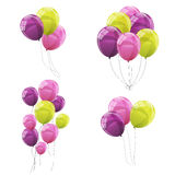 Color Glossy Balloons Set Vector Illustration. EPS10 Royalty Free Stock Photo