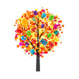 Color Glossy Balloons Tree Background. Happy Birthday Concept. V. Ector Illustration EPS10 Royalty Free Stock Image