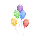 Color glossy balloons vector illustration. Stock Image