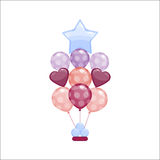 Color glossy balloons vector illustration. Stock Photography