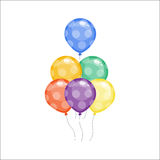 Color glossy balloons vector illustration. Stock Images