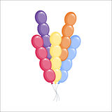 Color glossy balloons vector illustration. Royalty Free Stock Images