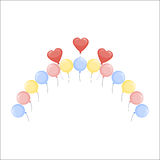 Color glossy balloons vector illustration. Royalty Free Stock Photography