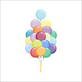 Color glossy balloons vector illustration. Stock Photos