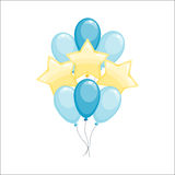 Color glossy balloons vector illustration. Royalty Free Stock Photo