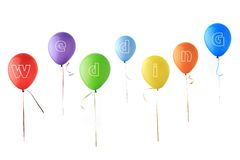 Color glossy balloons Royalty Free Stock Photography