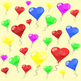 Color glossy balloons. On white background Royalty Free Stock Photo