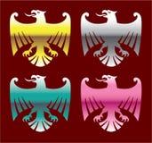 Color Glossy Chrome Eagles Vector Art Stock Photos