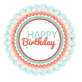 Color Glossy Happy Birthday Balloons Banner Background Vector Il Stock Photos