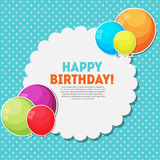 Color Glossy Happy Birthday Balloons Banner Background Vector  Royalty Free Stock Photography