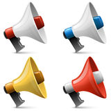 Color glossy megaphone sign Royalty Free Stock Photography