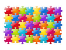 Color glossy puzzle Royalty Free Stock Image